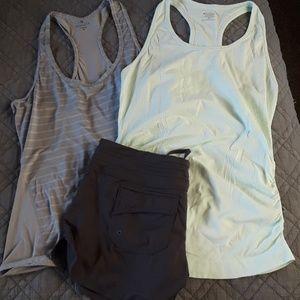 Athleta tanks & shorts bundle